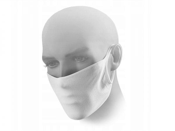 Maseczka ochronna 2-warstwowa biała z mikrofibry + miejsce na filtr