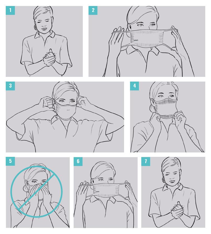 Instrukcja użycia maseczka UYN